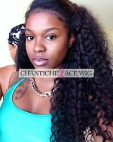 Chantiche Lace Wig Curly Indian Remy Human Hair Front/Full Lace Wigs Black Women