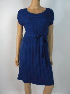 1bd413d01b  80 Ann Taylor Loft Royal Blue Cable Knit Sweater Dress 8 10 Petite ...