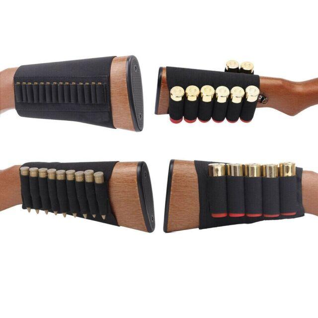 Rifle bullet Ammo Holder Belt Bandolier 6 Shell Shotgun Butt Stock Strap