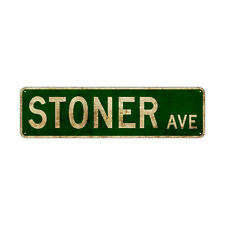 Stoner Ave Decor Wall Shop Man Cave Bar Street Rustic Vintage Retro Metal Sign
