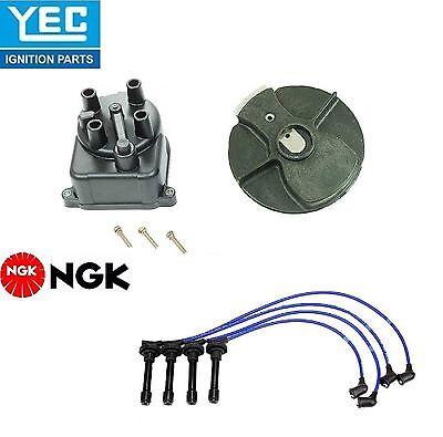 Tampa Rotor plugues de Arame Para Mazda Protege 1.8L 90-94 Yec /& Ngk Ignição Kit distribuição