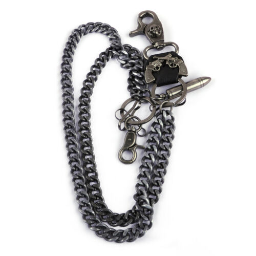 Hosenkette Geldbeutelkette Schlüsselkette Punk Jeans Biker Rock Wallet Chain Neu