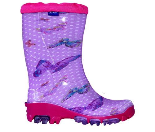 Muflon Renbut Fille Enfants Bottes en Caoutchouc Pluie Chaussures Pluie Bottes chaussures enfants