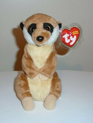 MWMT Ty Beanie Baby ~ BURROWS the Meerkat 6.5 Inch