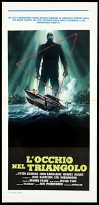 L'OCCHIO NEL TRIANGOLO LOCANDINA FILM HORROR 1977 SHOCK WAVES PLAYBILL POSTER
