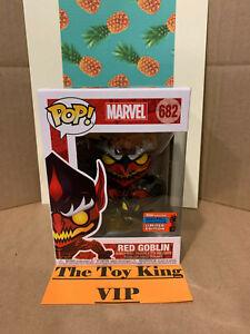 Funko Pop Marvel rosso Goblin # 682 NYCC esclusivo 2020 condivisa in mano