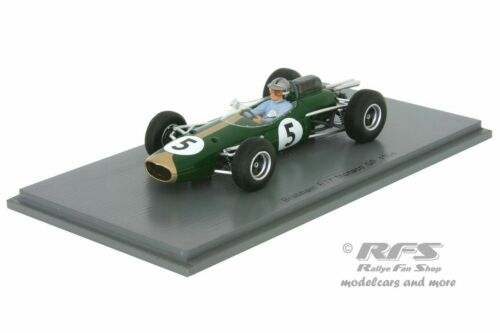 Jack Brabham Formel 1 GP Monaco 1964-1:43 Spark 5251 Brabham BT7 Climax