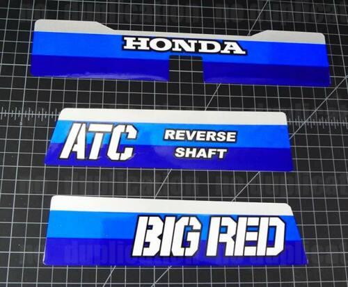200es 1984 84/' honda Big Red ATC 3pc Rear autocollants Sticker Decals 200e