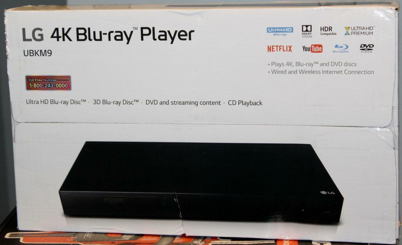 LG UBKM9 Streaming Ultra-HD Blu-Ray Player with Streaming Services Wi-Fi New new player services streaming ubkm9 with
