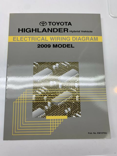 2009 Toyota Highlander Hybrid Electrical Wiring Diagram