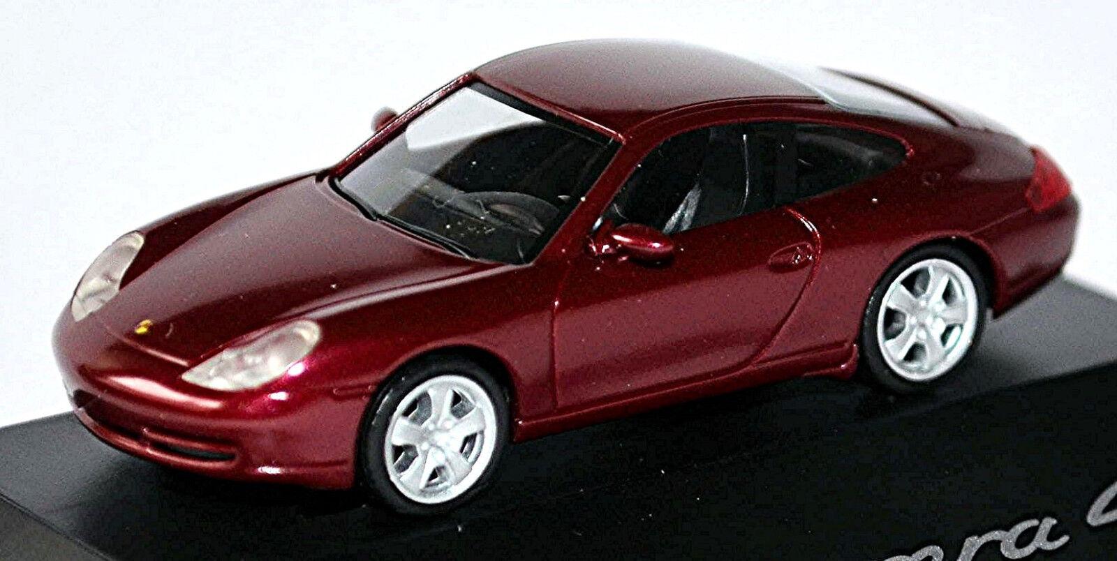 Porsche 911 996 Carrera 4 Coupe 1997-2006 Arena Red Red Metallic 1 87 Herpa