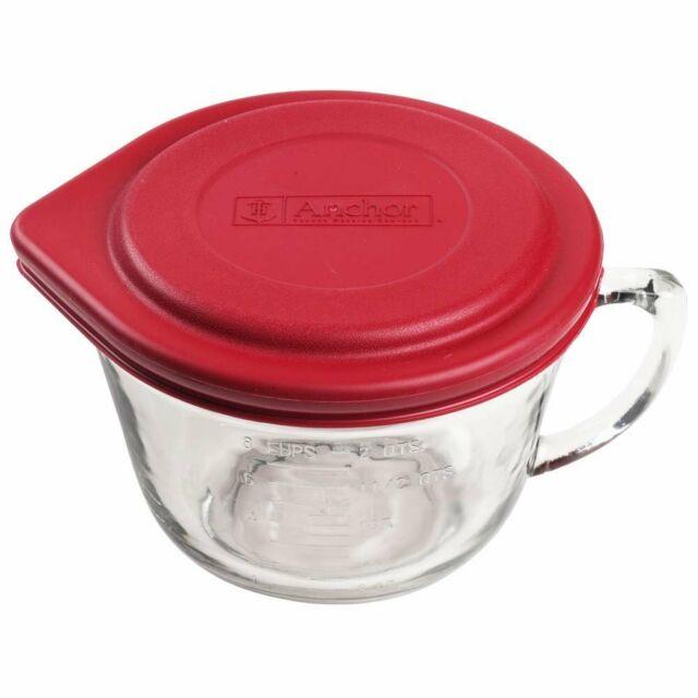 81106L11 Anchor Hocking 2 Quart Glass Batter Bowl With Lid