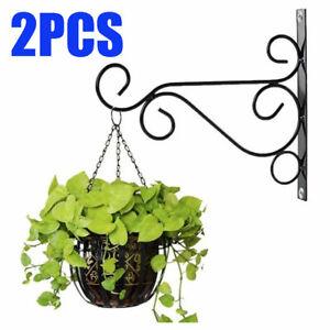 4PCS Iron Wall Hanging Bracket Art Plant Holder Hanger Hook Home Garden Decor