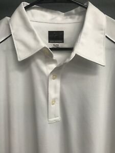 Greg-Norman-Golf-Mens-Polo-Shirt-Play-Dry-Size-XL-White