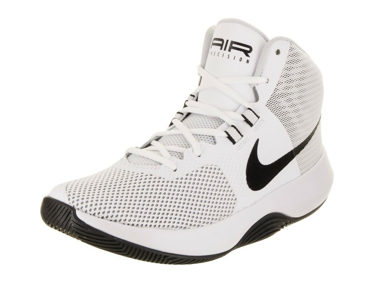NIB MEN'S NIKE 898455 100 NIKE AIR PRECISION WHITE/BLACK BASKETBALL SHOES Price reduction