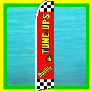 QUALITY TUNE UP BANNER FLAG Advertising Sign Feather Swooper Bow Flutter Ad Flag