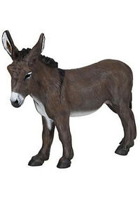 Papo-Provence-Donkey-Mule-Farm-Animal-Pretend-Play-Barn-51054-NEW