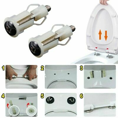 Fixing WC Blind Hole Fitting Kits Screws Nut Cover Lid Pan Top Fix Toilet Seat