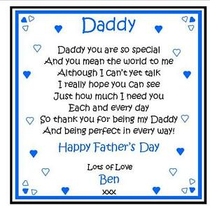 Personalised Drink Coaster Daddy First Fathers Day Birthday Gift