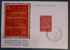 MAXI CARD - FDC - GIORNATA FRANCOBOLLO - MESTRE - 1968