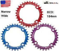 SNAIL XC AM DH Bike Round Narrow Wide Single Chainring Chain Ring 30T BCD 104mm