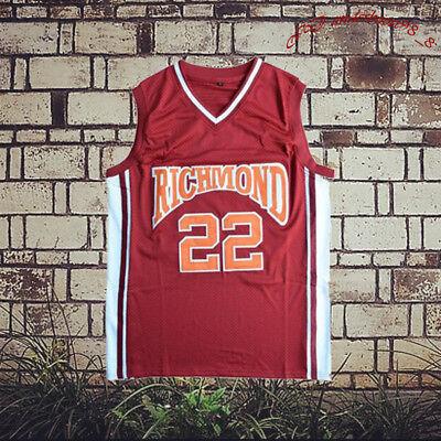 Timo Cruz 22 Richmond Oilers Men Basket Jersey All Stitched Red S-XXL