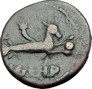 ELAGABALUS-218AD-Genuine-Parion-Parium-Mysia-Ancient-Roman-Coin-CAPRICORN-i65179