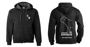 Exclusive Dogeria Design Activewear Dogs Dogue De Bordeaux Full Zipped Dog Breed Hoodie