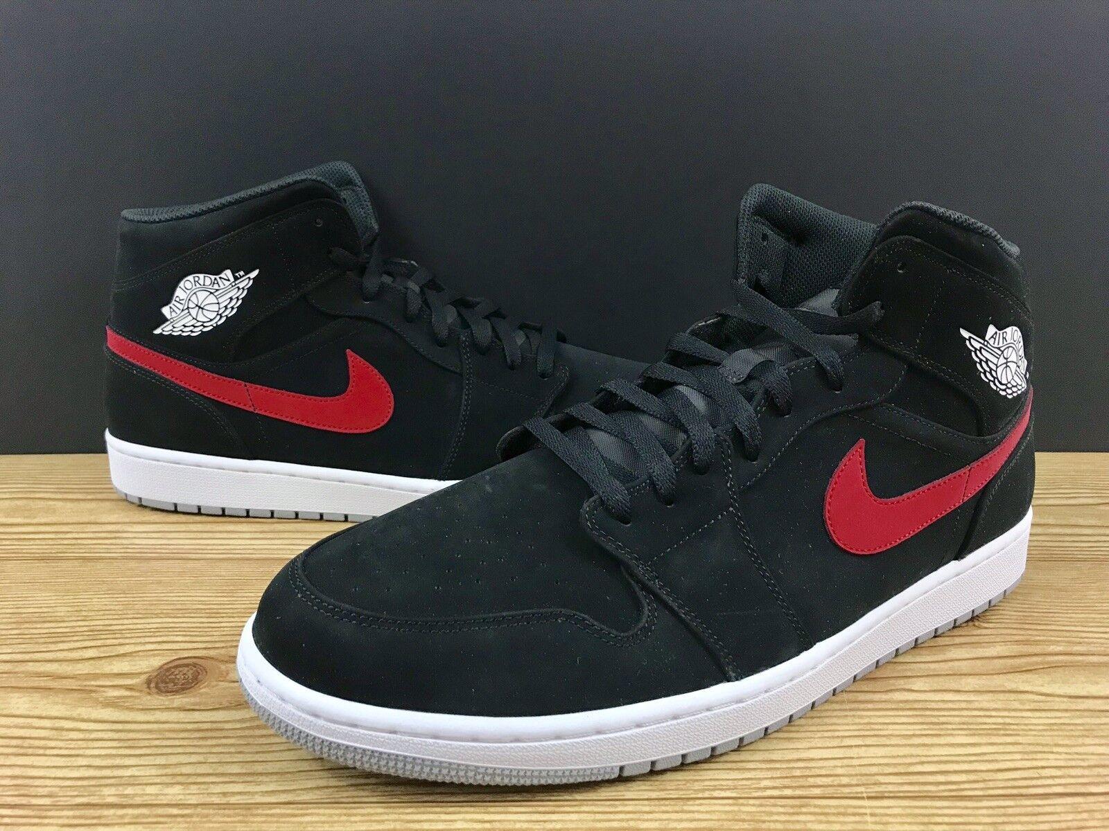 5e40f5913ec8 Nike Air Jordan 1 Mid Mid Mid Mens Sz 10 Shoes Black University Red Blue  554724