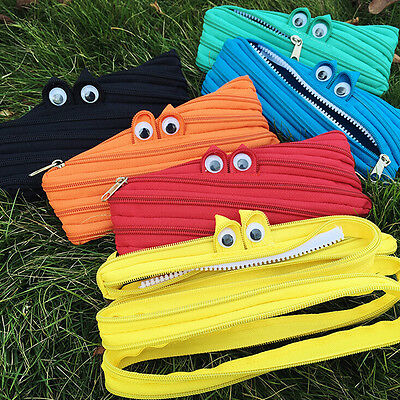 Animal Eyes Style School Pencil Stationery Box Storage Bag Stationery Cases tbus