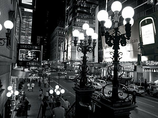 Setboun 42nd Street at Night New York terminé-image 60x80 la fresque
