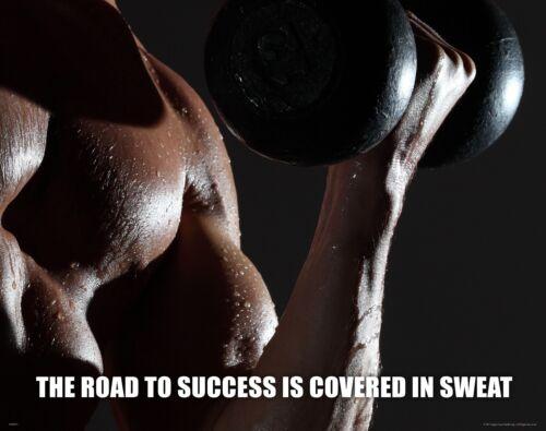 Workout Motivational Poster Art Print Weights Pants Shorts Shoes Gloves  MVP475