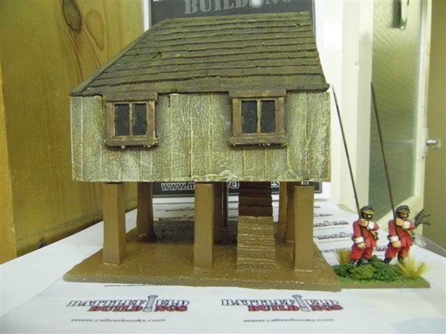 28MM Pmc Spiele ME18 (Lackiert) Zwei Etagen House On On On Stelzen Holz 2. Fußboden & 50c90b