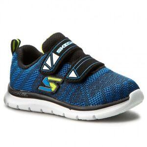 Sneakers blu con chiusura velcro per bambini Skechers 2xYFcQU