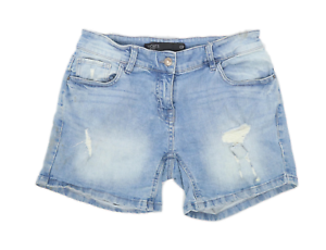 Womens-Next-Blue-Denim-Shorts-Size-10-L4