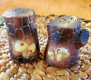 Salt and Pepper Shakers-Tree Stumps