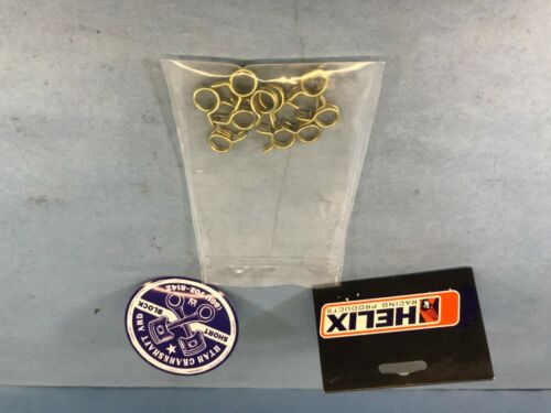 """NEW UNIVERSAL HELIX CLIPS 10 PK FOR FUEL LINE WITH AN OD 3//8/"""" POLARIS ARCTIC CAT"""