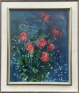 Expressionist-Hans-Ripa-1912-Red-Roses-Still-Life-Stil-Life-With-Red-Rose