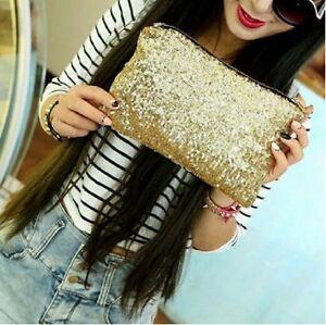 Image is loading Fashion-Women-Lady-Clutch-Dazzling-Sequins-Glitter-Handbag- 9b2287834872