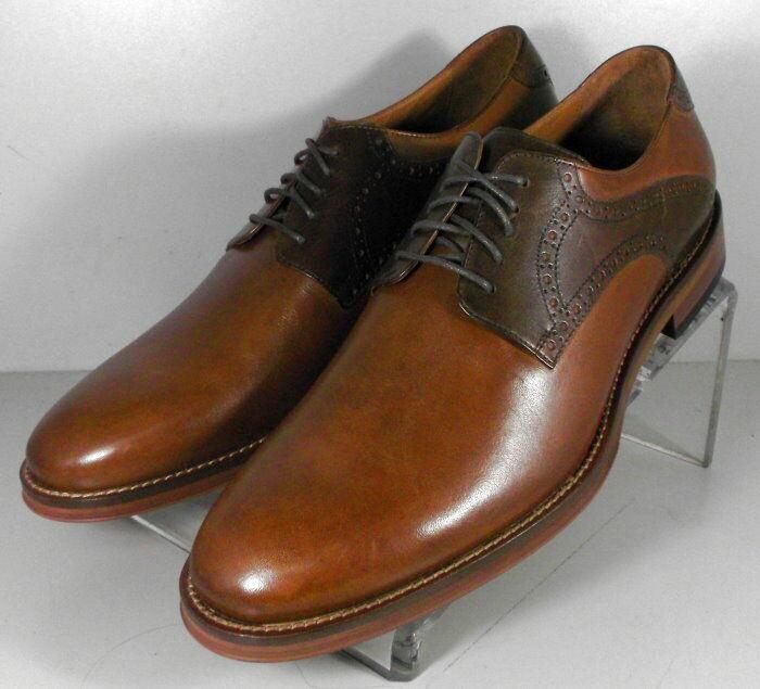 5912570 SP50 Men's Shoes Size 9 M Dark Tan Leather Lace Up Johnston & Murphy
