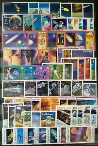 Worldwide-Space-Stamp-Collection-MNH-15-Full-Sets-from-15-Different-Countries
