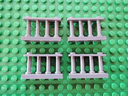 Lego 4 x Spindelzaun 30055 neu dunkelgrau 1x4x2