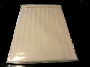 New 2 Standard Pillow Case White Cotton Satin Stripe Super