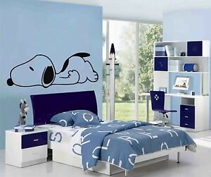 Image Is Loading SNOOPY Sleeping Wall Art Stickers Decals Mural 1m