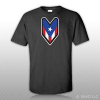 Puerto Rico Driver Badge T-shirt Tee Shirt Free Sticker Wakaba Rican Soshinoya