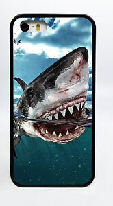 GREAT-WHITE-SHARK-BLACK-PHONE-CASE-COVER-FOR-IPHONE-7-6S-6-PLUS-5C-5S-5-4S-4