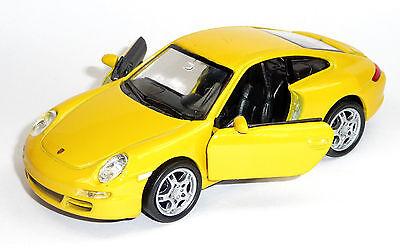 Modellauto 1:37 Porsche 911 997 Carrera S ca 12 cm rot von WELLY Neuware
