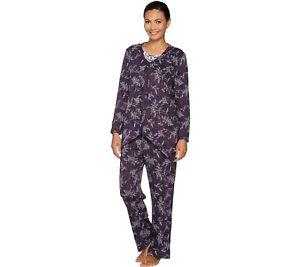 Carole-Hochman-Petite-Interlock-Etched-Floral-3-Pieces-Pajama-Set-2X-Size-QVC