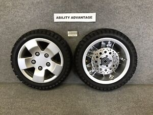 2-PRIDE-Pursuit-Sport-36-SC714-FRONT-WHEELS-DISK-BRAKES-TIRES-TUBES-NEW