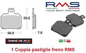 0490 - 1 Coppia Pastiglie Freno Anteriori RMS per DERBI Senda DRD 125 R dal 2010